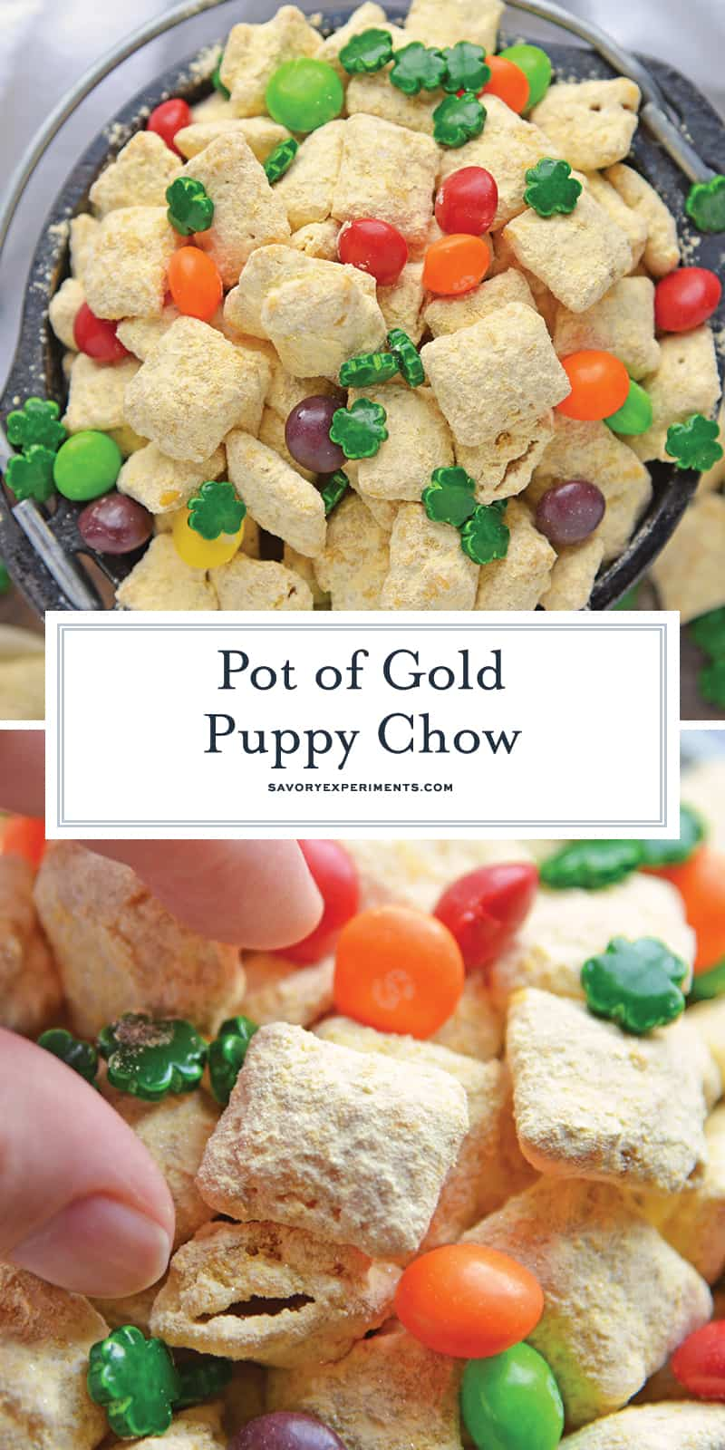 Gold Puppy Chow for Pinterest