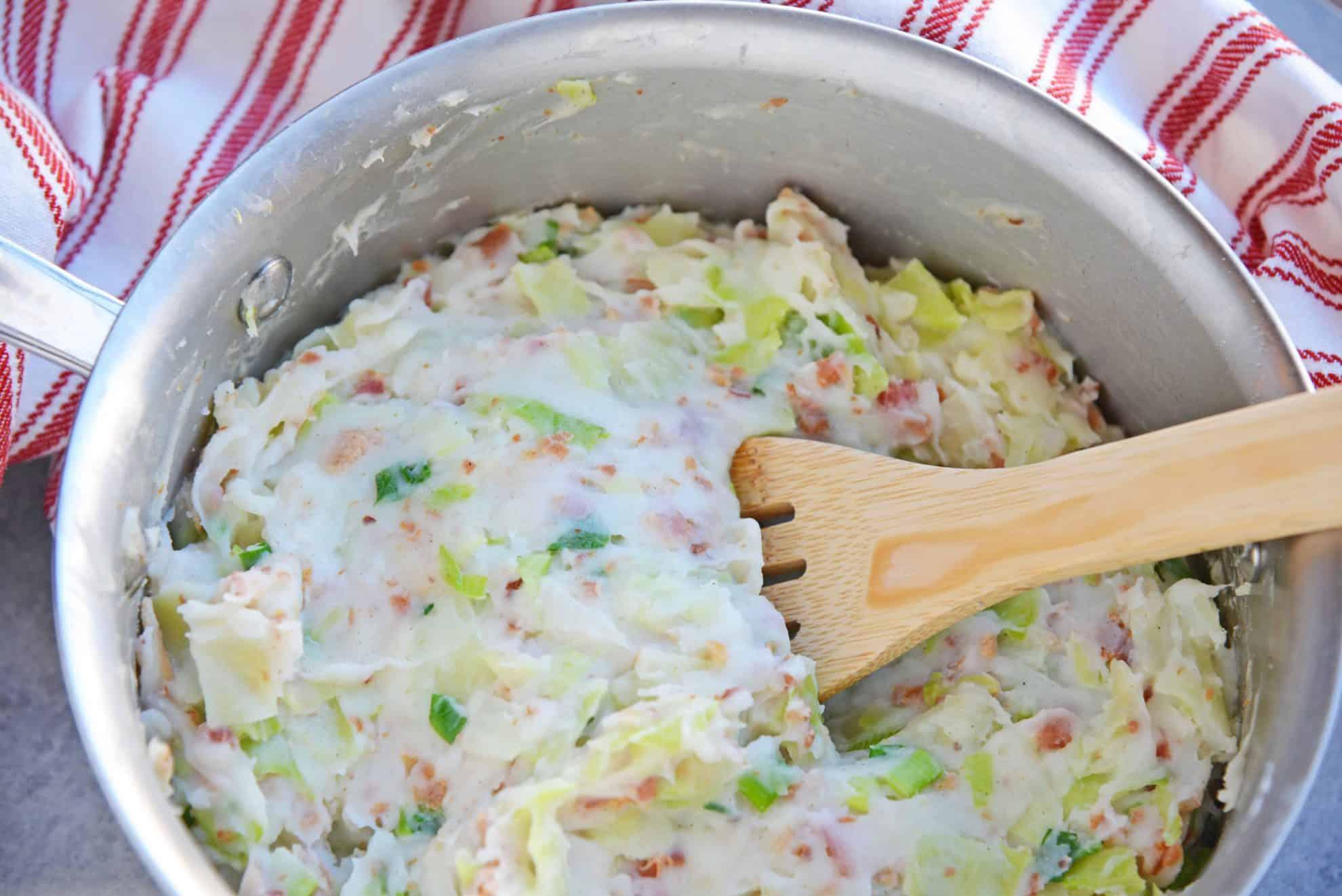 Colcannon in a saucepan