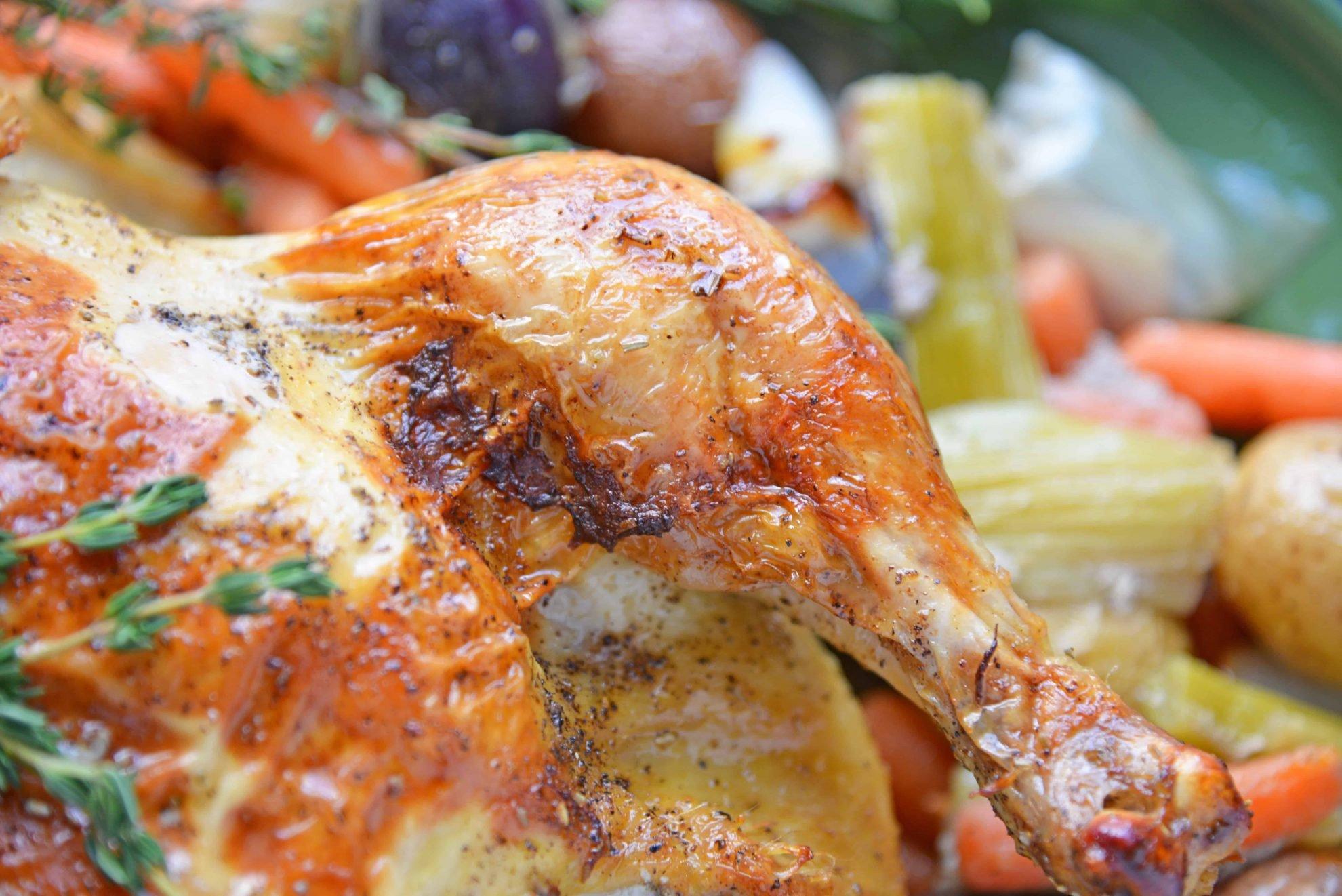 Crispy skin chicken leg