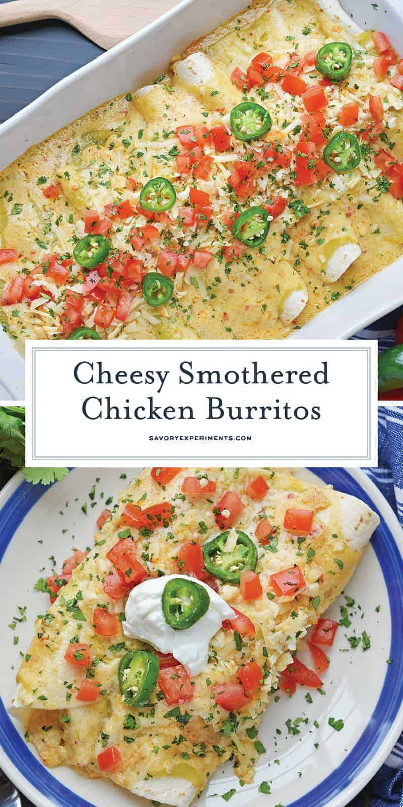 smothered chicken burritos for pinterest