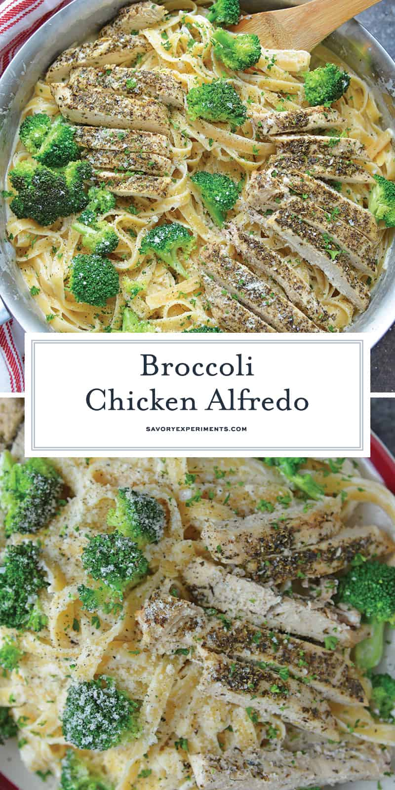 Broccoli Chicken Alfredo for Pinterest