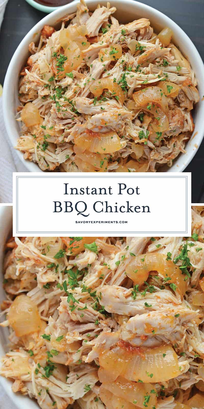 Instant Pot BBQ Chicken for Pinterest