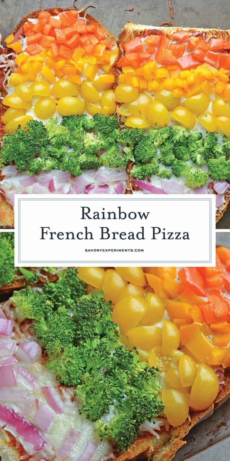 Rainbow French Bread Pizza for Pinterest