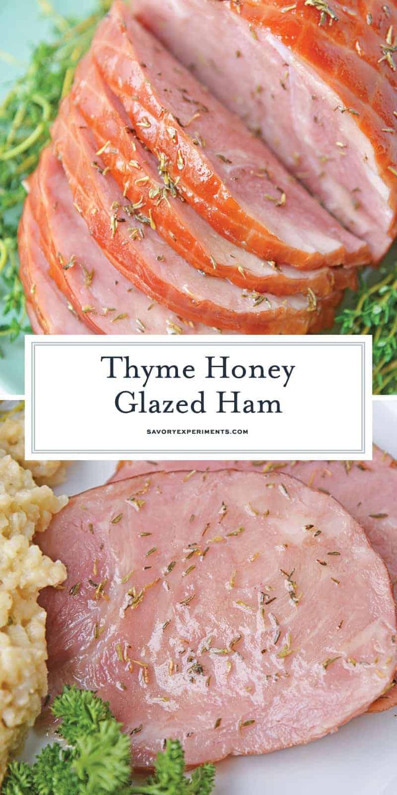 Thyme Honey Glazed Ham for pinterest