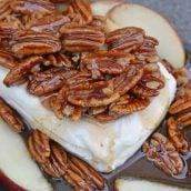 Close up of caramel apple spread