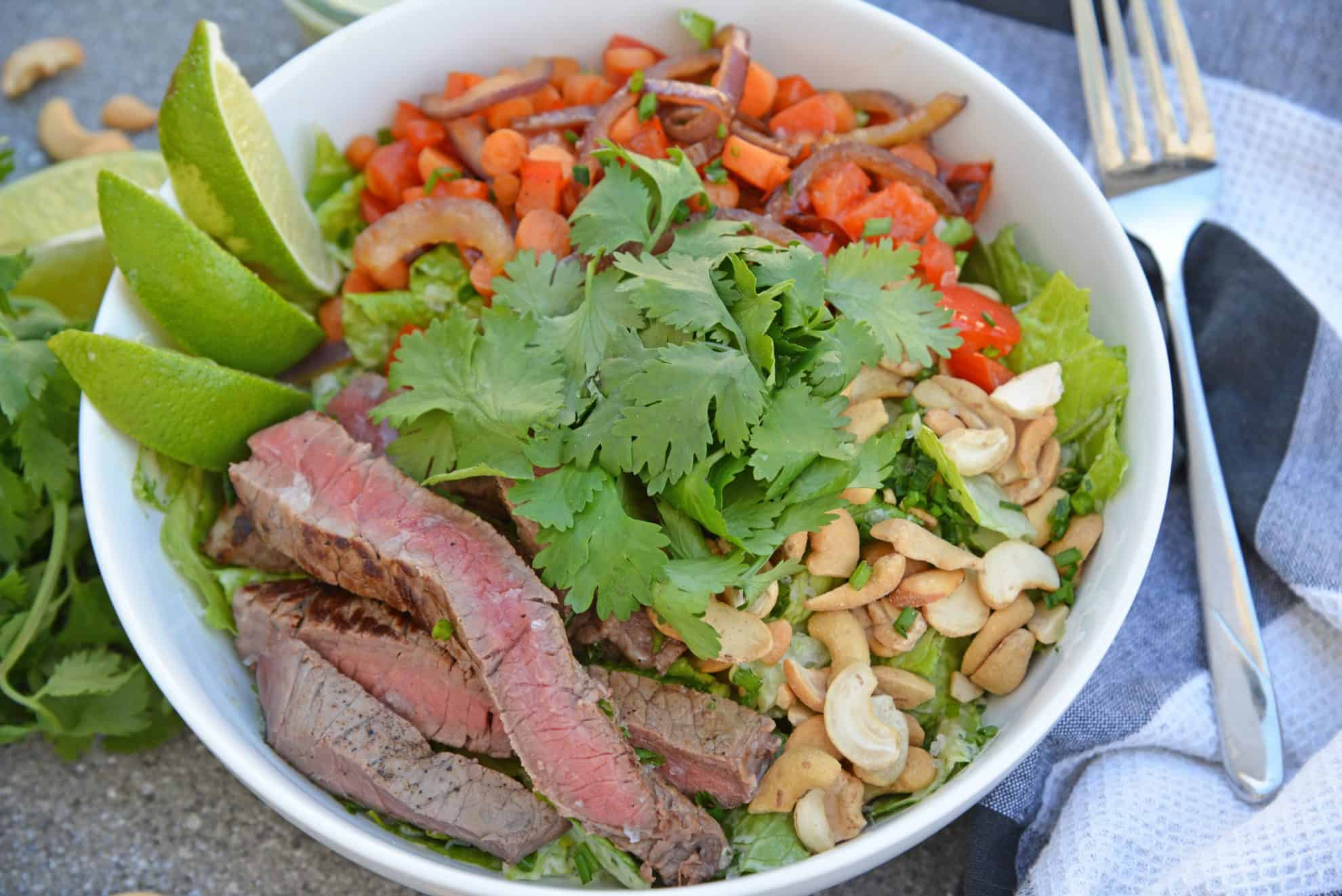 Sliced steak salad recipe