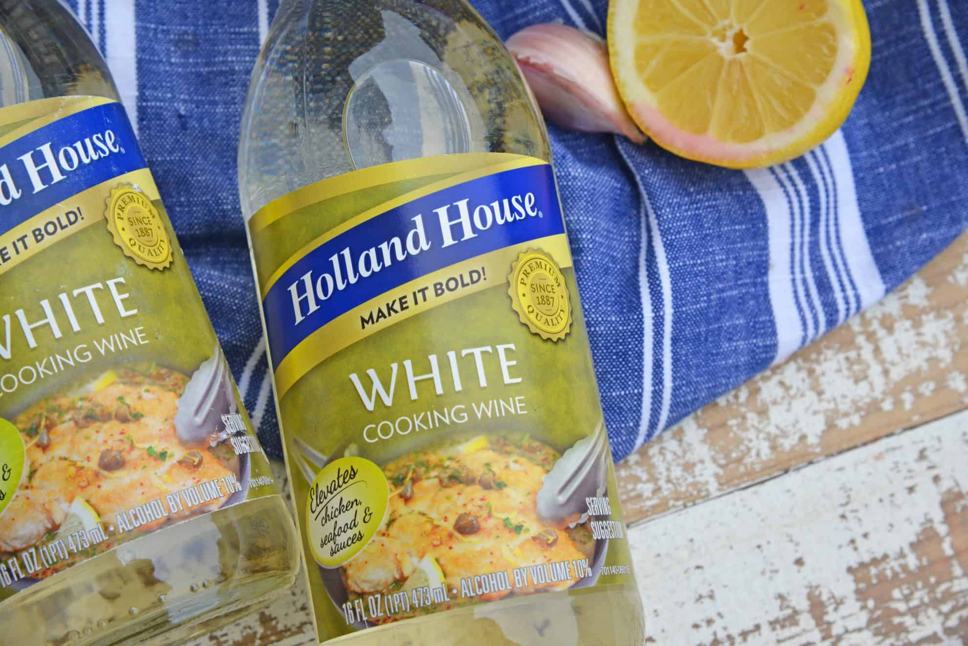 Close up of Holland House White Cooking Wine
