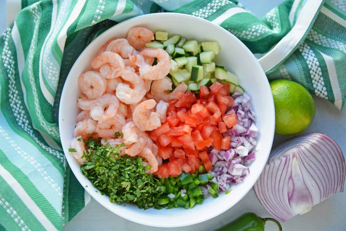 Mexican Shrimp Cocktail Ingredients