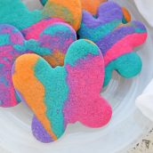 Tie Dye Butterfly Sugar Cookie