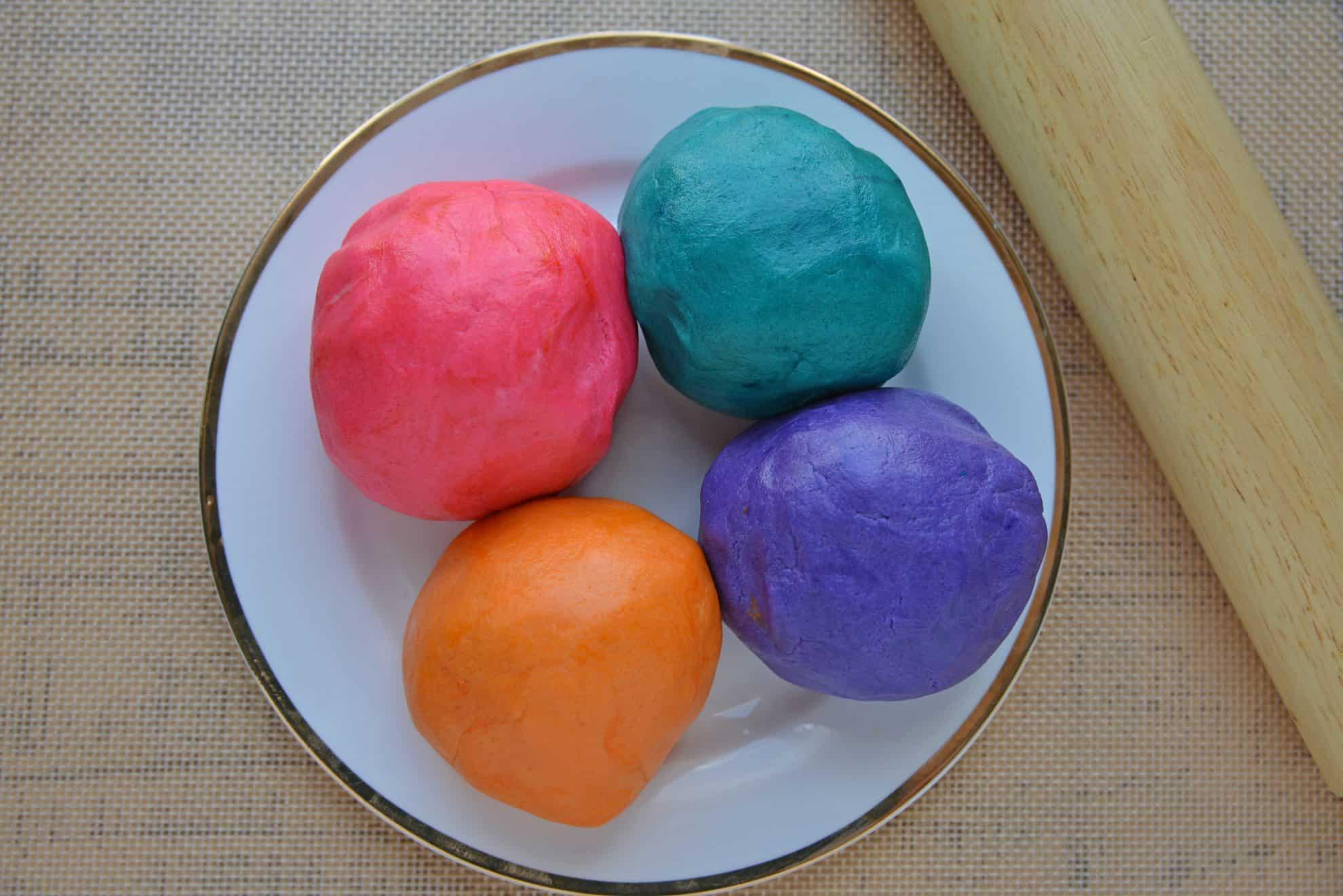 Colored sugar cookie dough