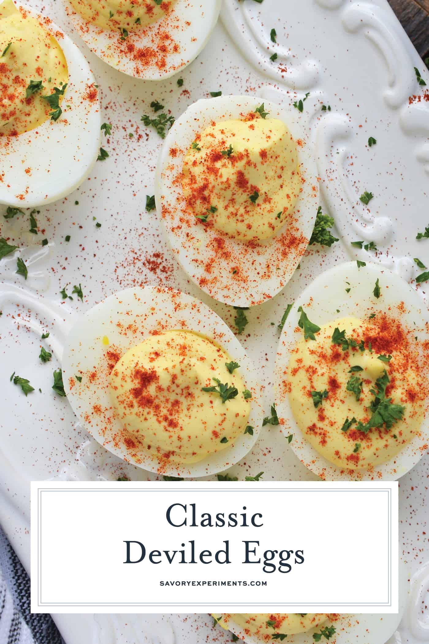 classic deviled eggs for pinterest