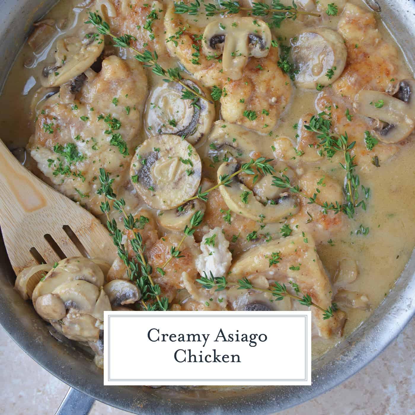 Creamy chicken in skillet