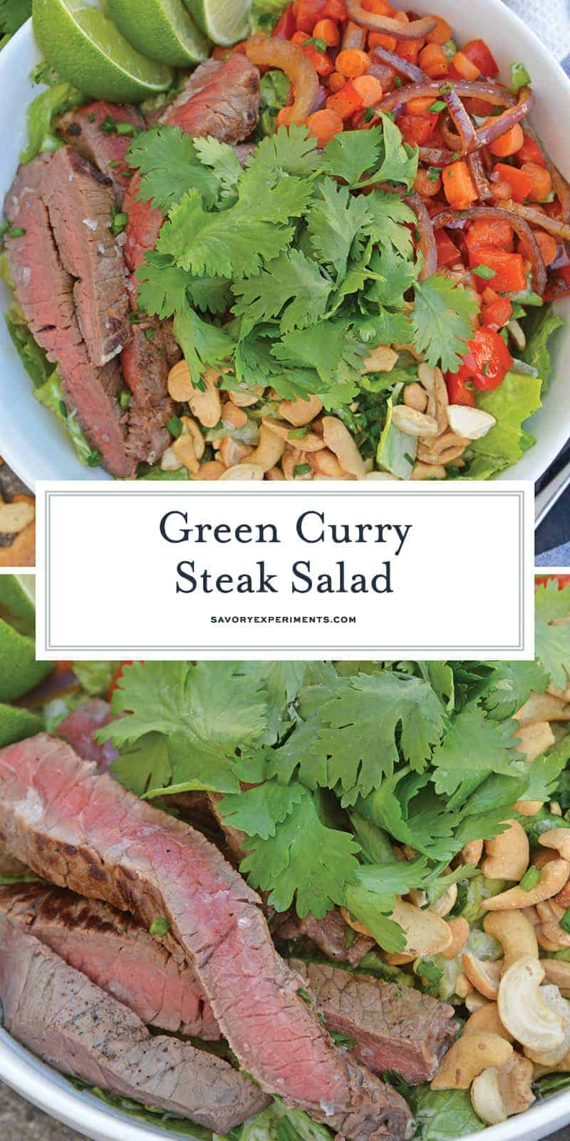 Green Curry Steak Salad for Pinterst