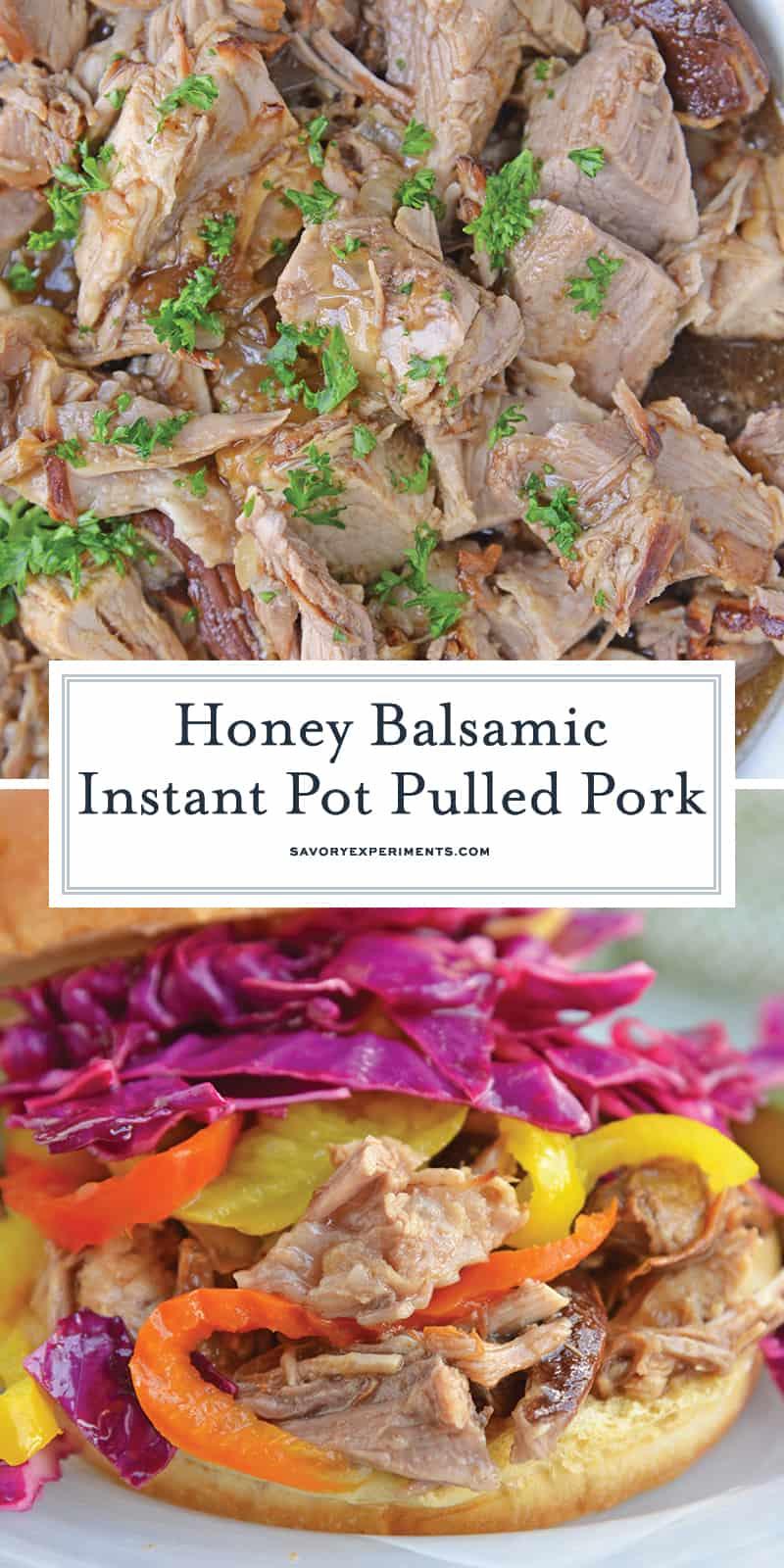Honey Balsamic Pulled Pork for Pinterest