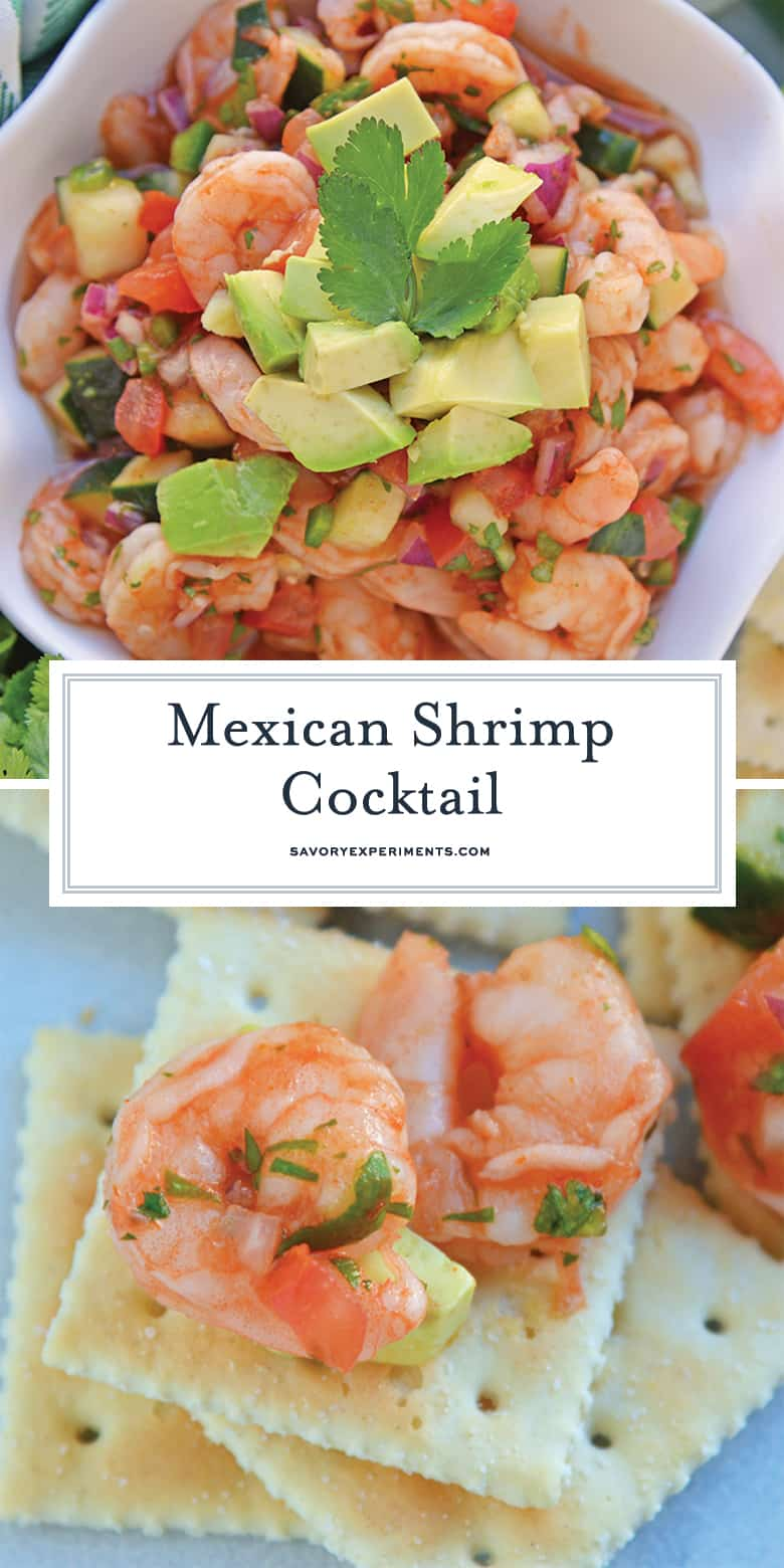 Mexican Shrimp Cocktail recipe for Pinterest