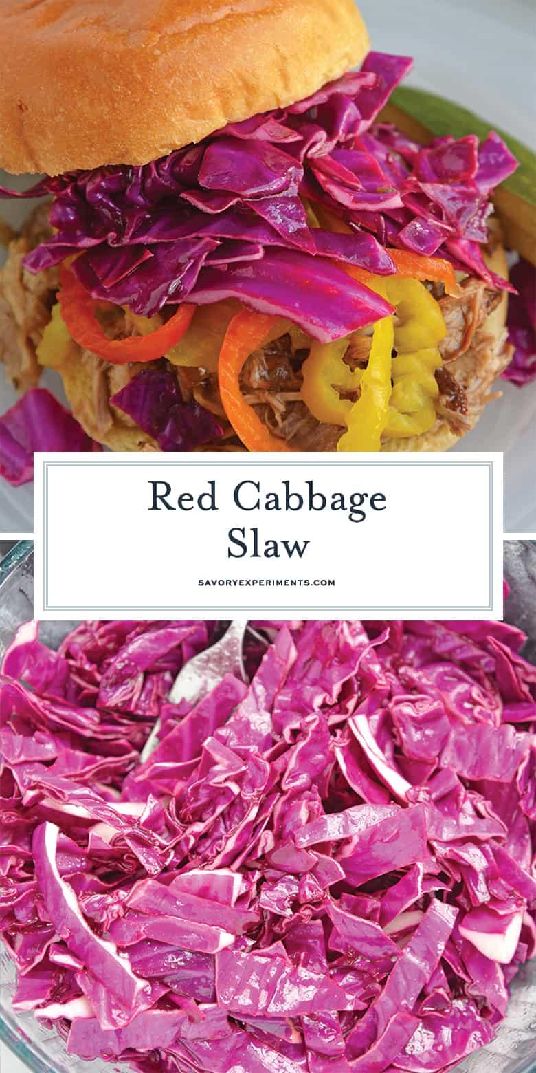Red Cabbage Slaw for Pinterest