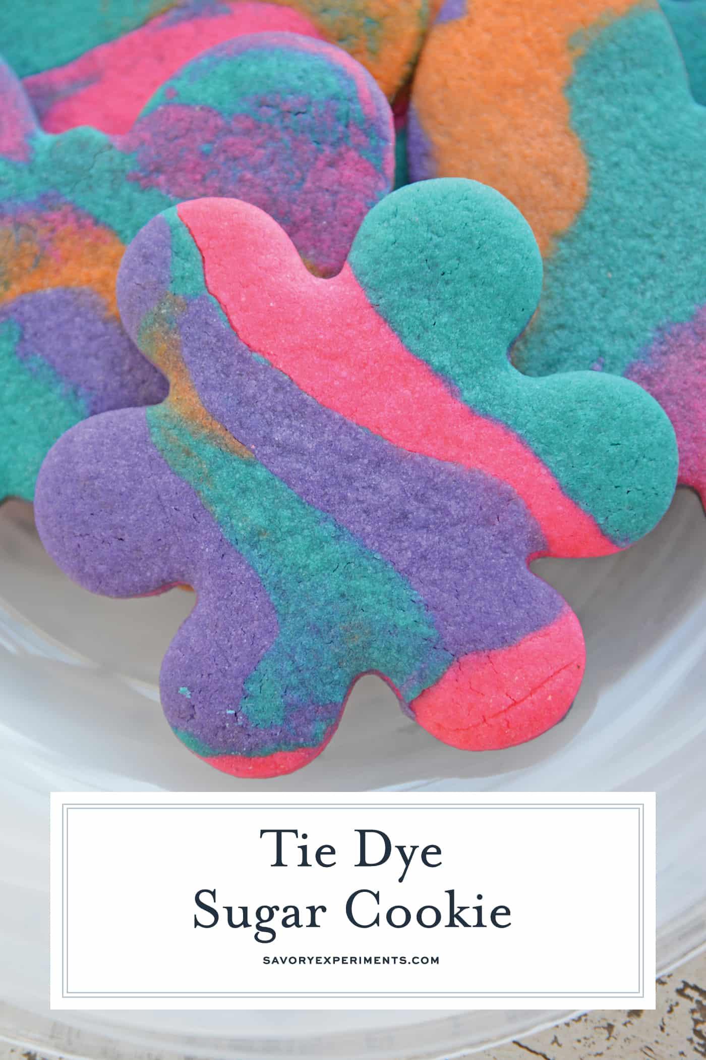Tie Dye Sugar Cookies | Colorful Sugar Cookie Rollouts