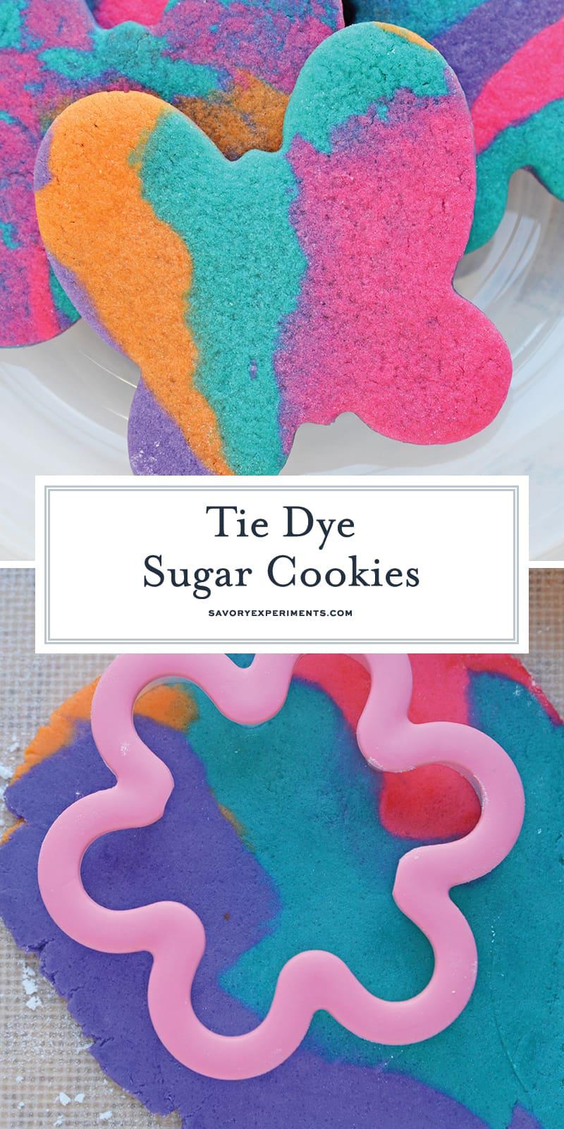 Tie Dye Sugar Cookies for Pinterest