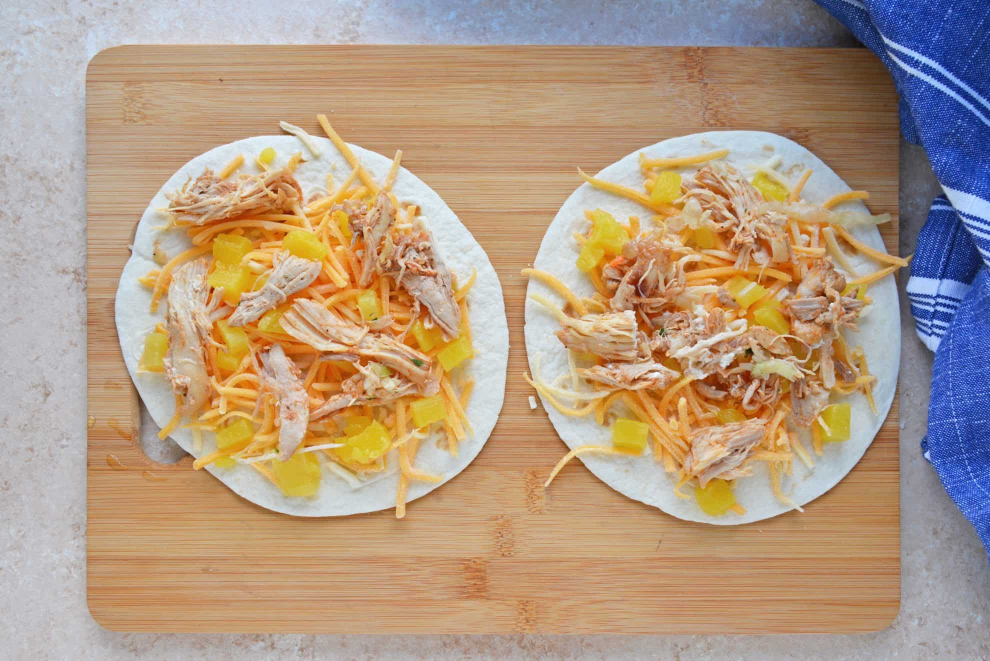 how to make a bbq chicken quesadilla
