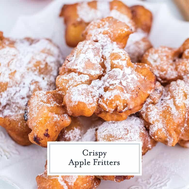 Platter of apple fritters