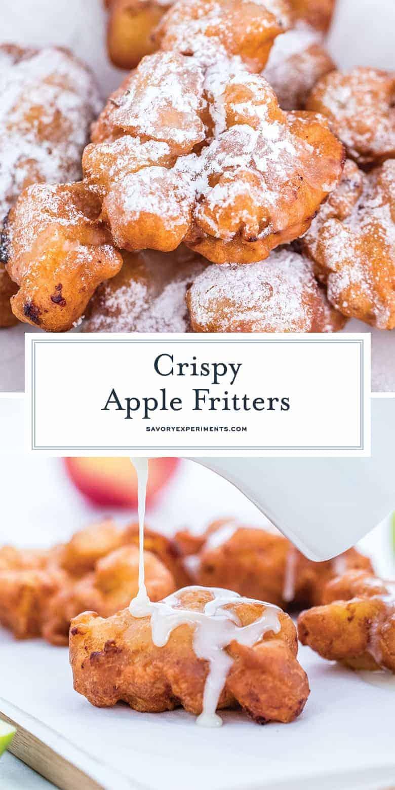 Crispy apple fritters for pinterest
