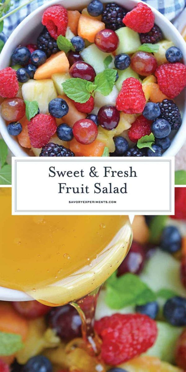 Fruit Salad with Agave Mint Dressing for pinterest