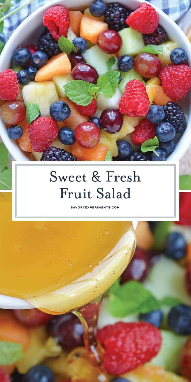 Fruit Salad with Agave Mint Dressing