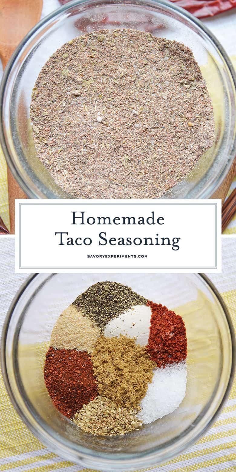 homemade taco seasoning for pinterest