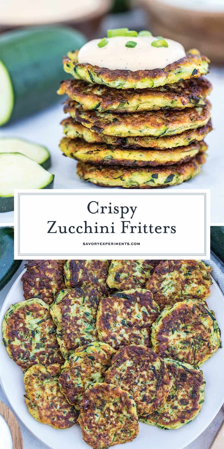 crispy zucchini pancakes for pinterest
