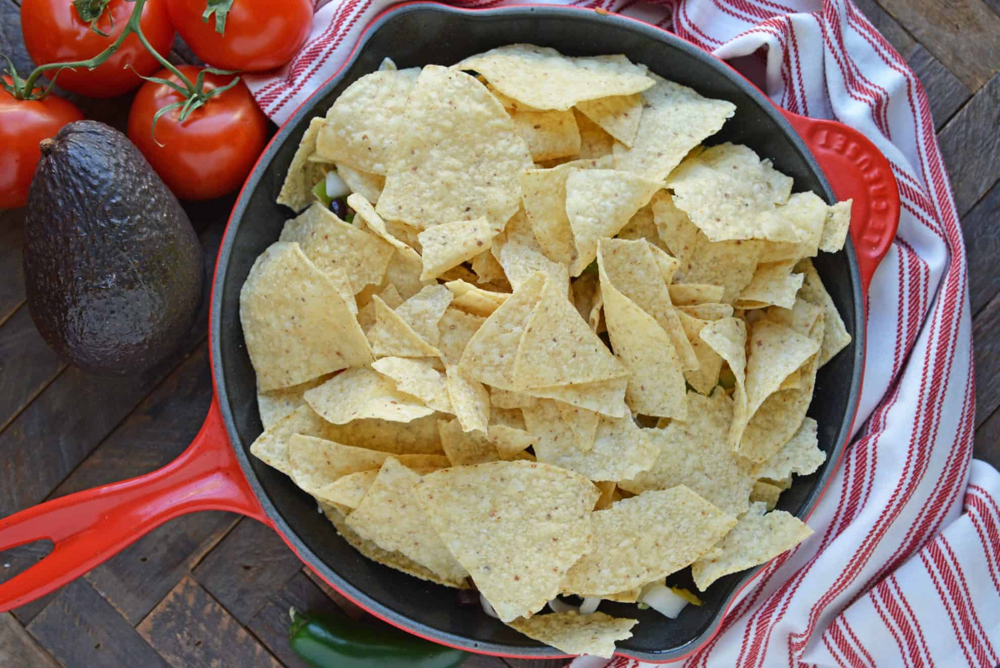 Layer nachos with more chips
