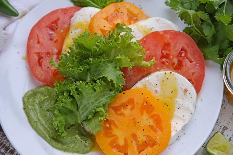 Frisee and Caprese Salad
