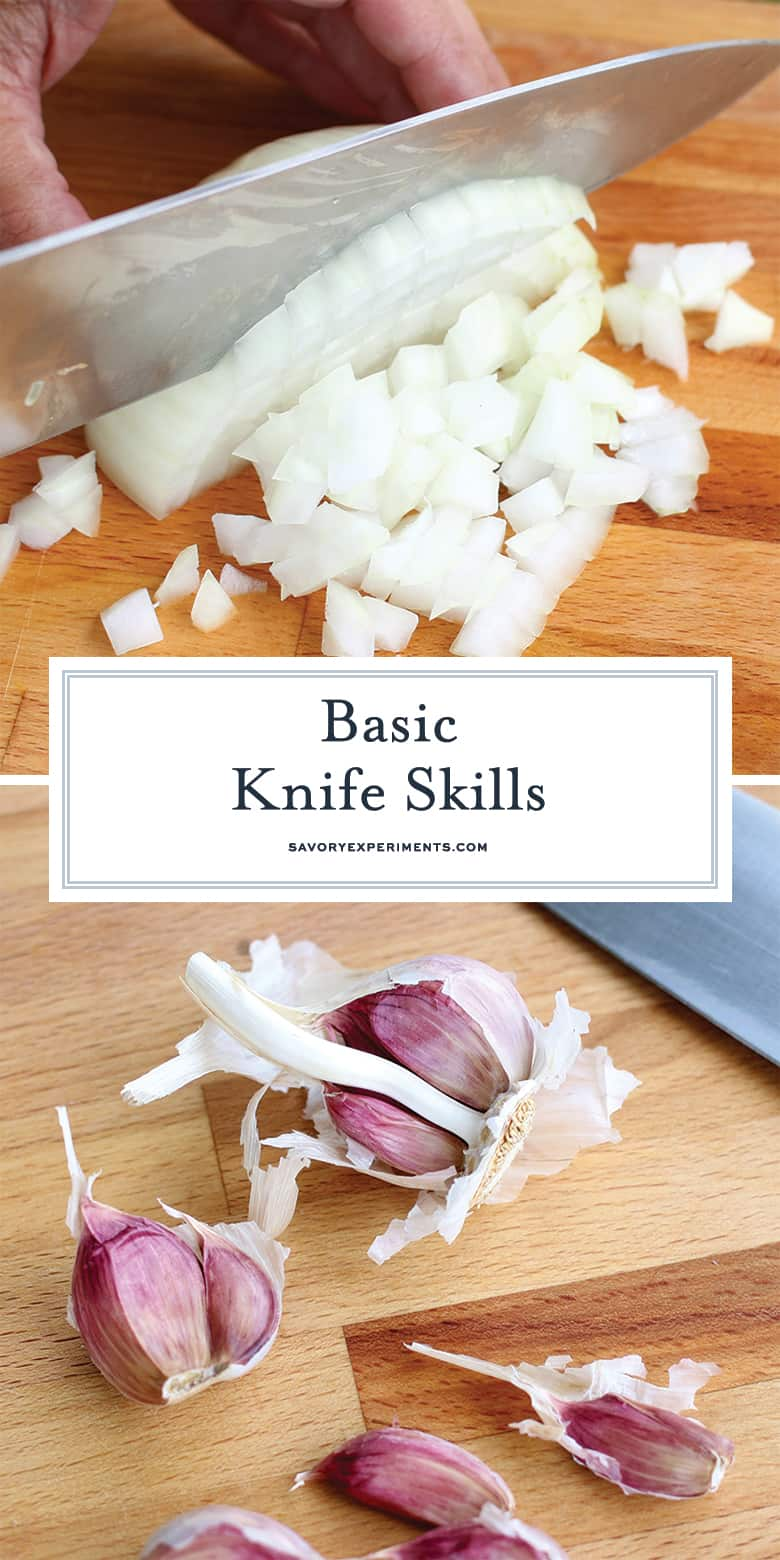 Basic Knife Skills for Pinterest