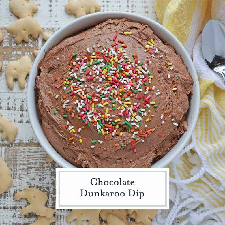 Chocolate Cake Mix Dip with Colorful Sprinkles