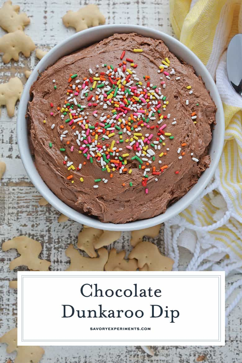 Chocolate Dunkaroo Dip for Pinterest
