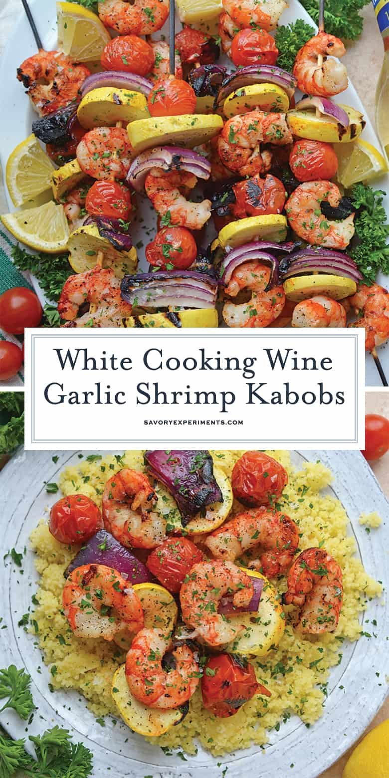 Garlic Shrimp Kabobs for Pinterest