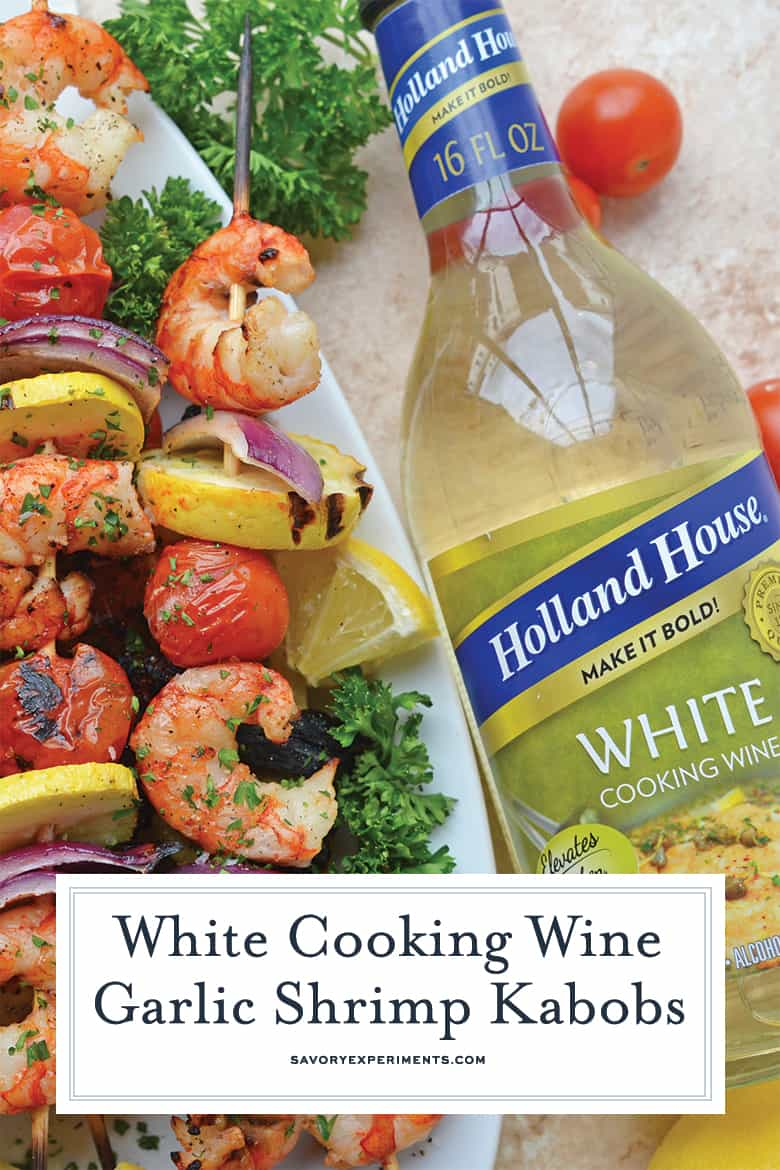 White Wine Garlic Shrimp Kabobs