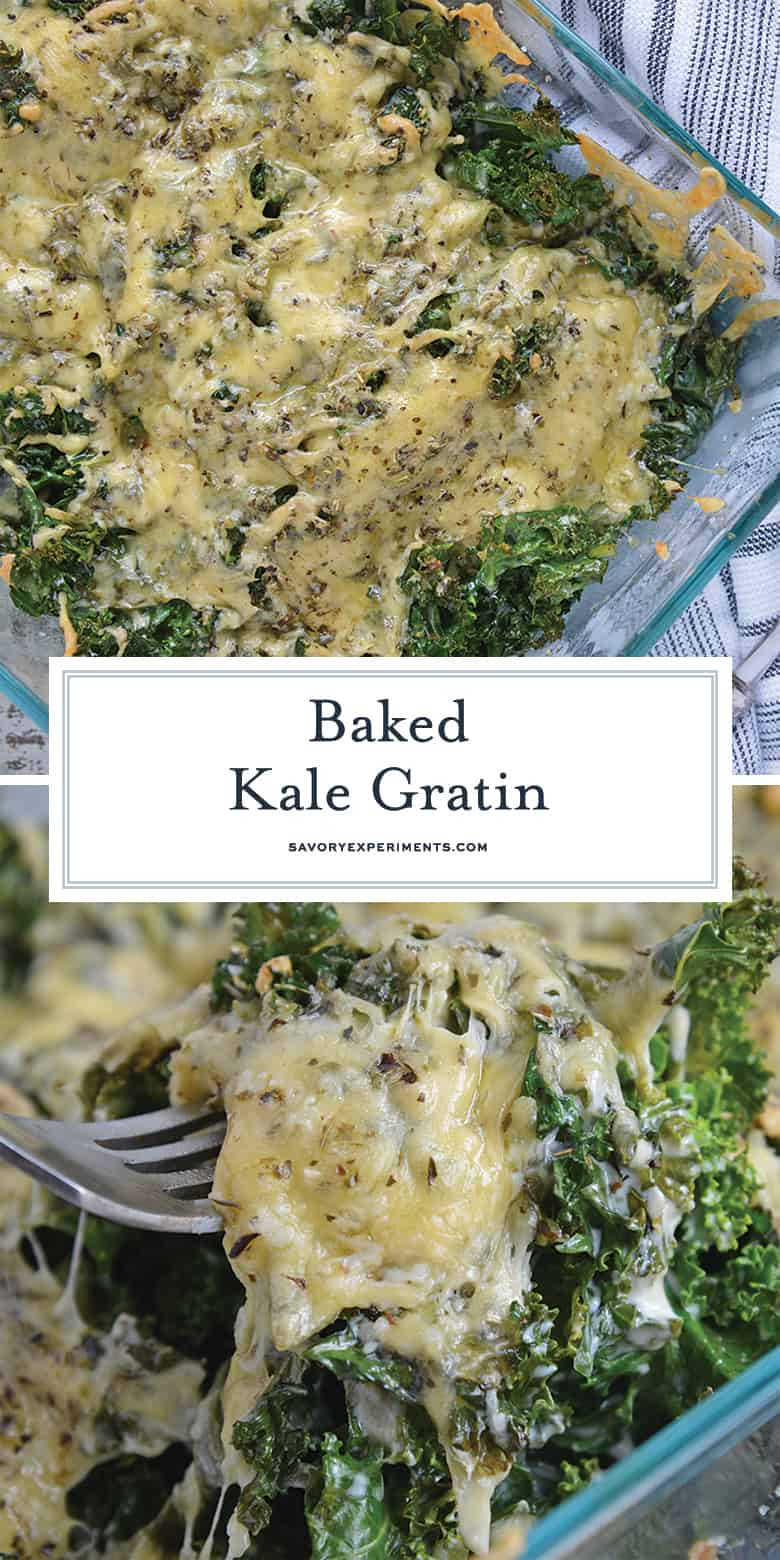 Baked Kale Gratin for Pinterest