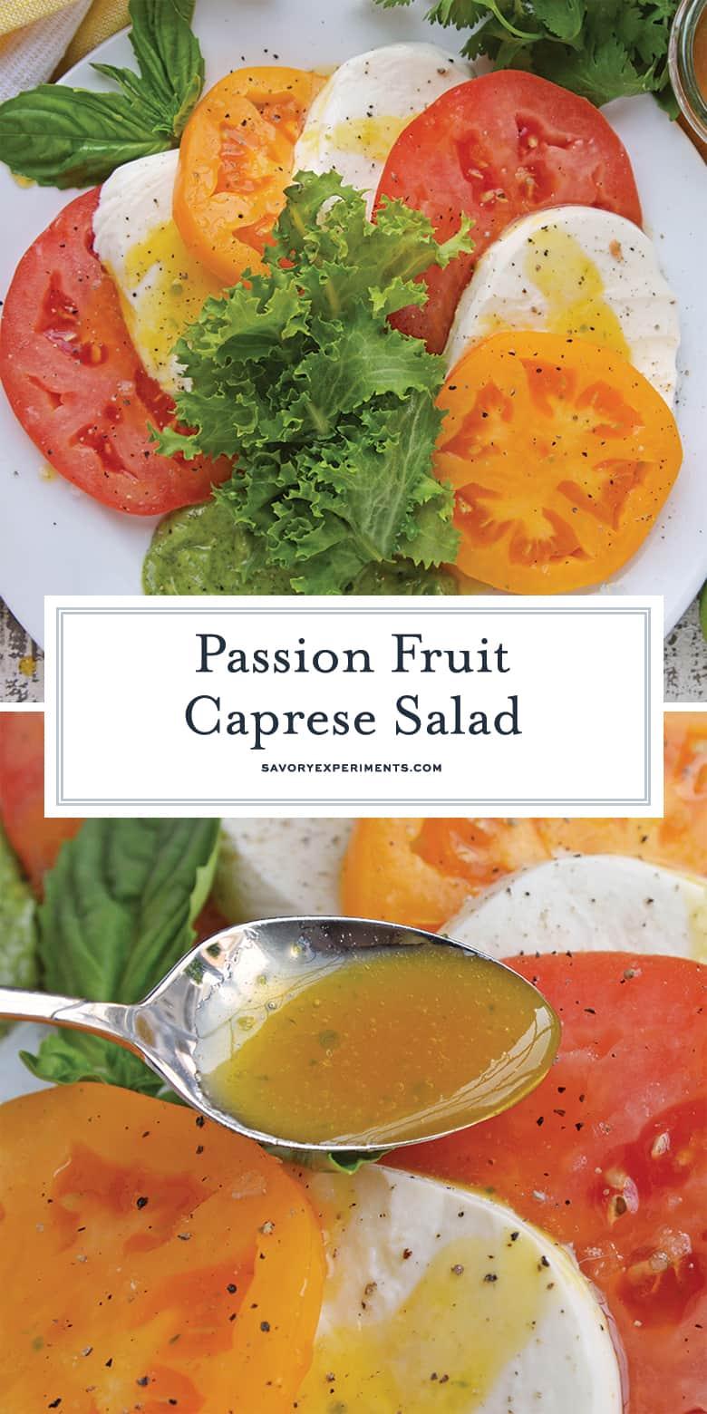 Passion Fruit Caprese Salad PIN