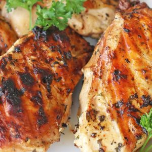 two pieces of grilled chicken breast