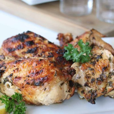 Grilled Chicken on a serving platter