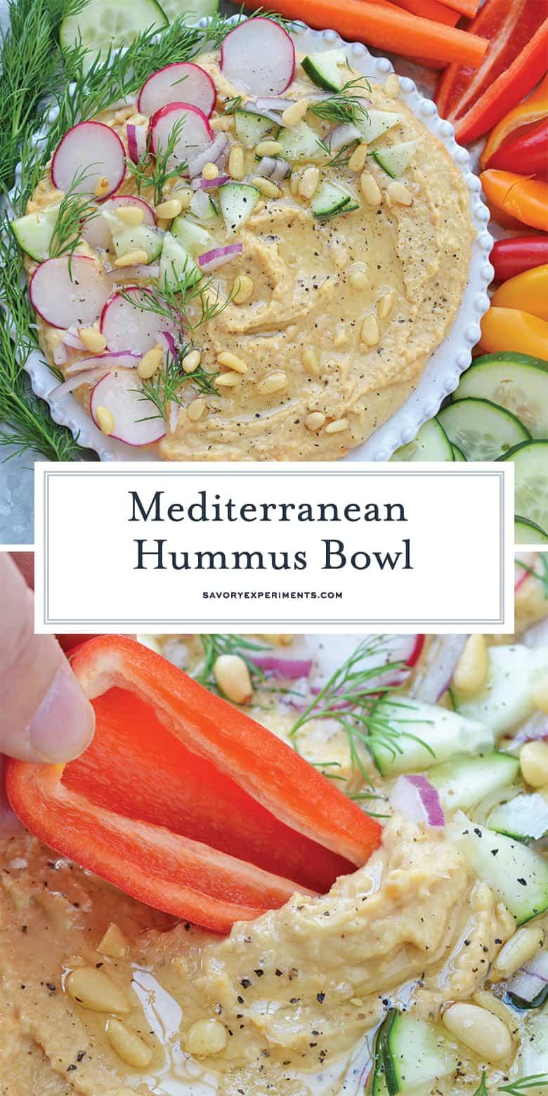 Mediterranean Hummus Bowl for Pinterest