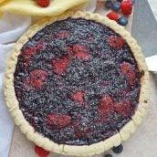 Mixed berry pie using frozen berries