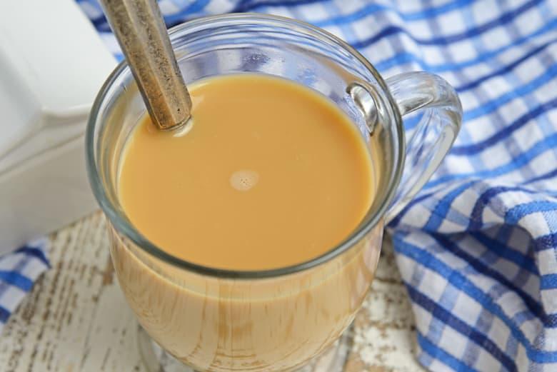 Coffee creamer in coffee