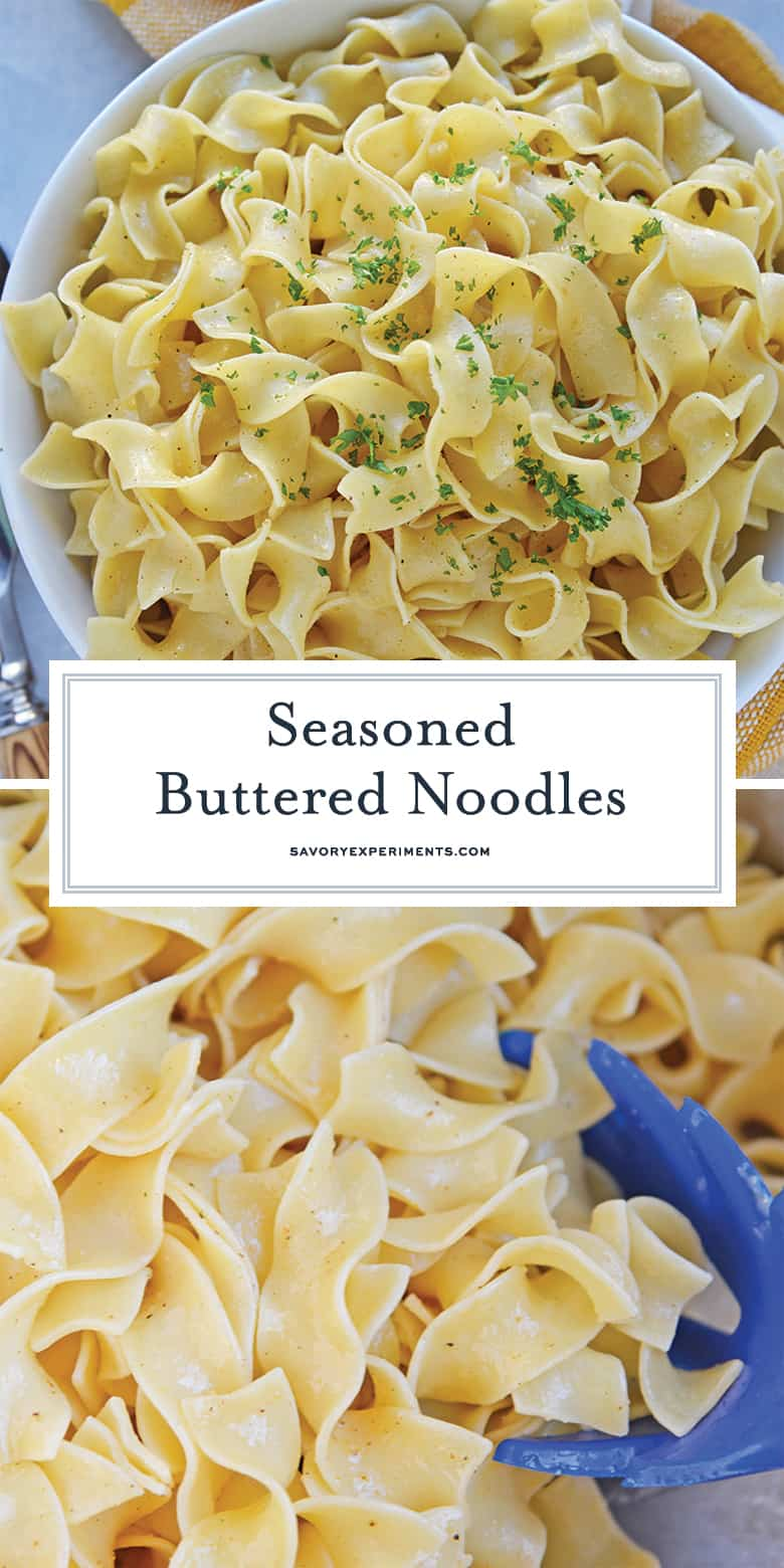 seasoned buttered noodles for pinterest