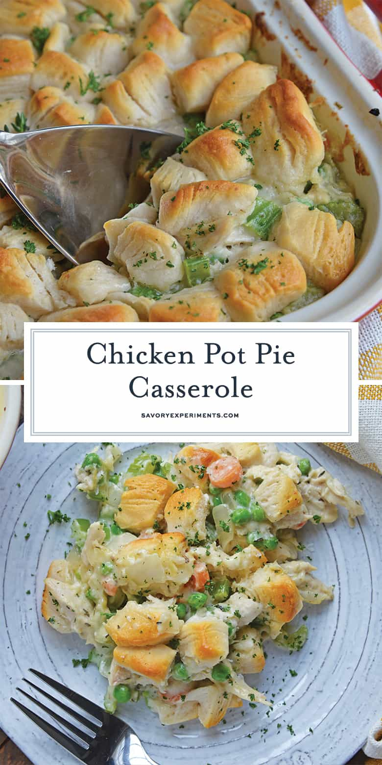 chicken pot pie casserole for pinterest