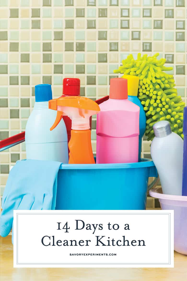 tips for cleaning your kitchen for pinterest