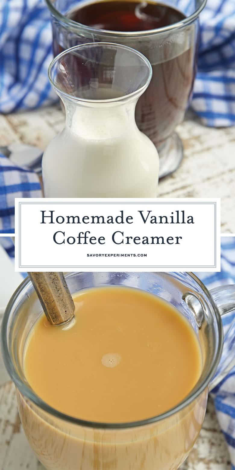 Homemade Coffee Creamer for Pinterest
