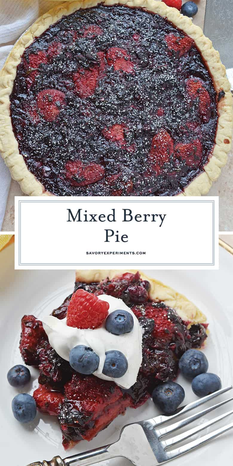 Mixed Berry Pie for pinterest