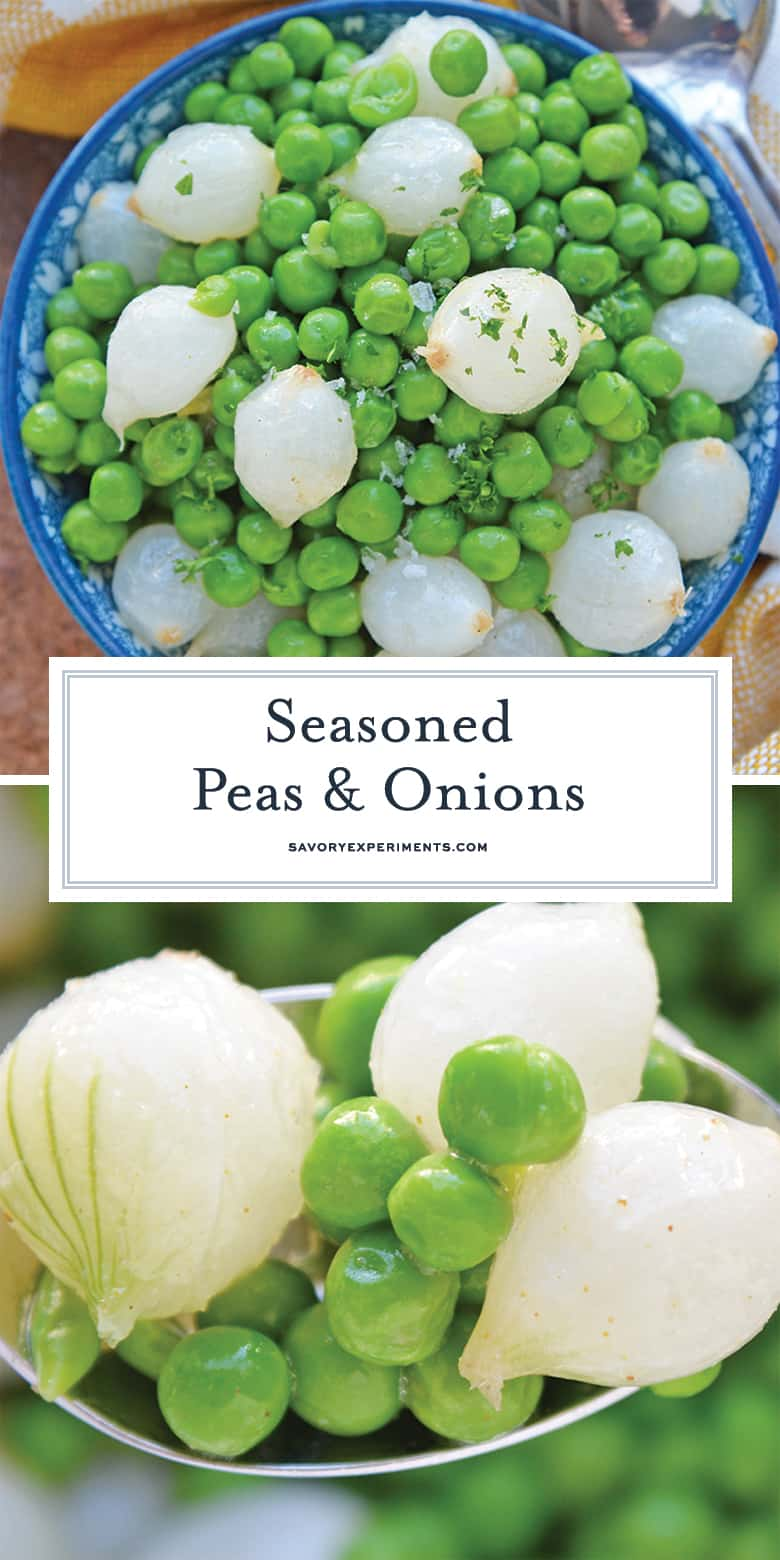 Seasoned Peas and Onions for Pinterest