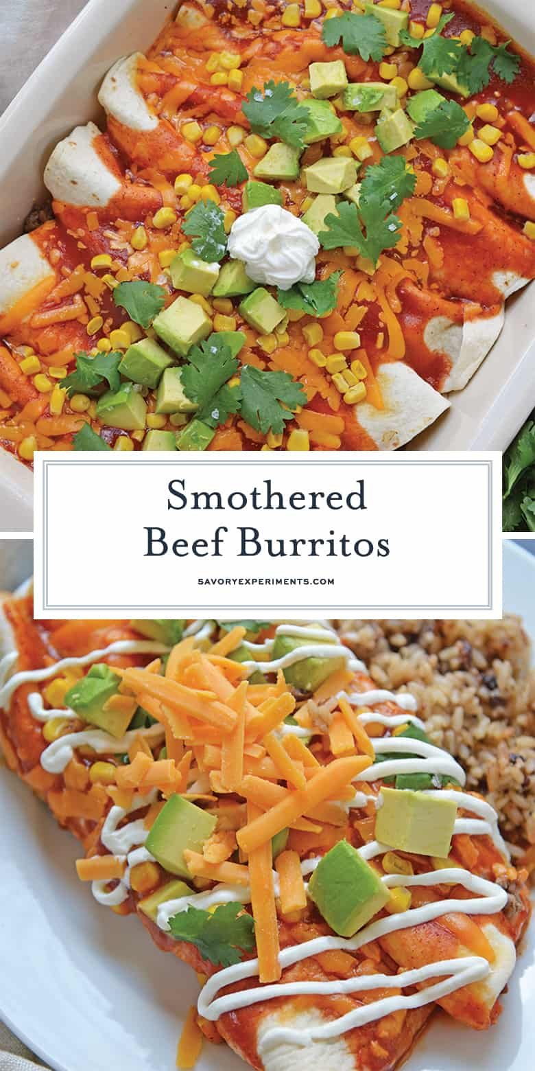 Smothered beef burritos for pinterest